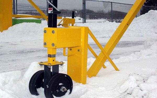 portable snow removal machine wheel
