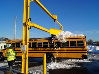 Model 700 school bus snow removal
