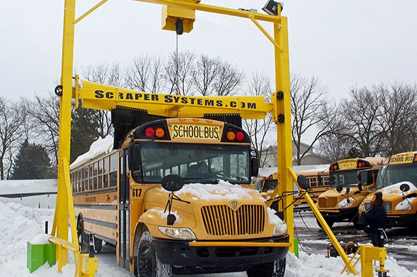 school bus snow removal