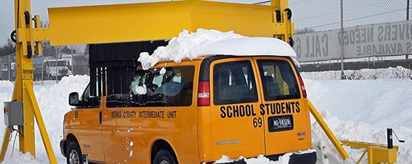 Adjustable height for school bus snow removal